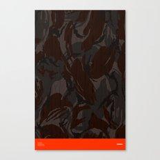 Modern Woodgrain Camouflage / British DPM Canvas Print