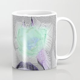Tulip Grid White Coffee Mug