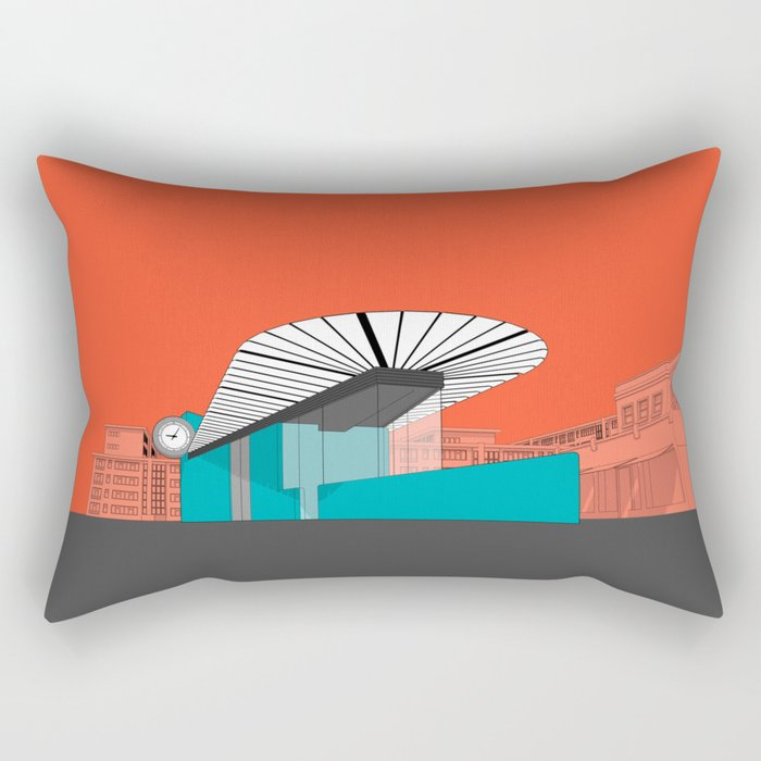 Turquoise Island Rectangular Pillow