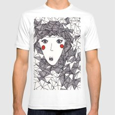 who White Mens Fitted Tee MEDIUM