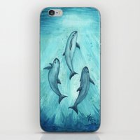 biology iPhone & iPod Skins featuring Song of the Vaquita  by Amber Marine