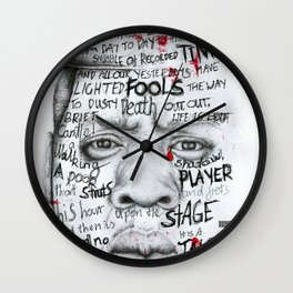 Tomorrow Tomorrow Tomorrow Wall Clock