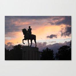 Paris : Statue Equestre du Maréchal Canvas Print