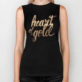 Heart of Gold Biker Tank