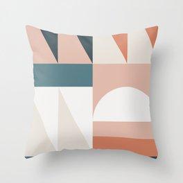 Cirque 05 Abstract Geometric Throw Pillow