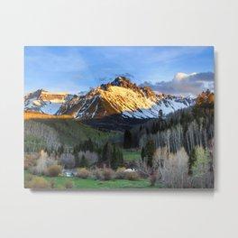 Mt Sneffels Sunset in Ridgway, Colorado Metal Print