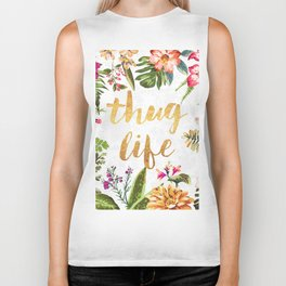 Thug Life - white version Biker Tank