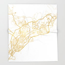 PANAMA CITY STREET MAP ART Throw Blanket