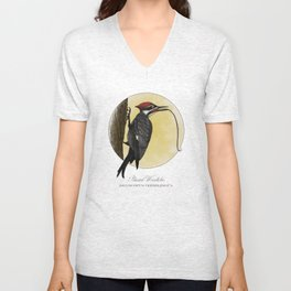 Pileated Woodlicker Unisex V-Neck