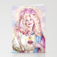 dolly parton Stationery Cards featuring Saint Dolly Parton  by DirtyLola