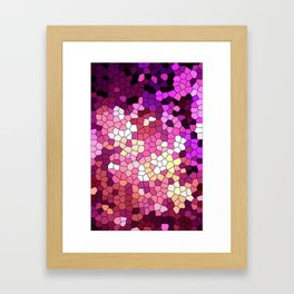 Purple rhapsody stained glas Framed Art Print