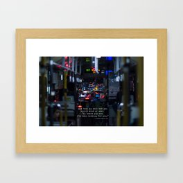 The Point Of Contact Framed Art Print