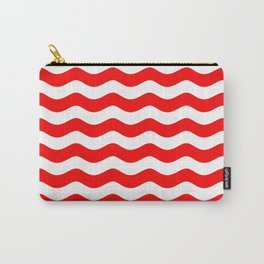 WAVES DESIGN (RED-WHITE) Carry-All Pouch