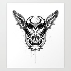 Yare Devil mask #1 Art Print