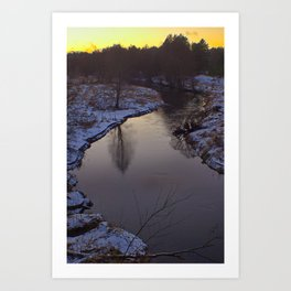 Curvy River Art Print