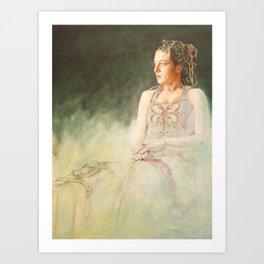 L'attente by Jacques Lajeunesse Art Print