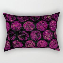 Hot Pink Circles Rectangular Pillow