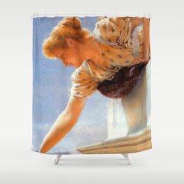 "Sir Lawrence Alma-Tadema ""God Speed!"" Shower Curtain"