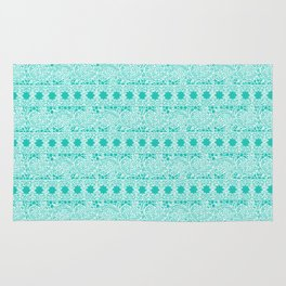 Lacey Lace - White Teal Rug