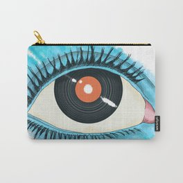 Musical vision: eye illustration with vinyl record for pupil Carry-All Pouch