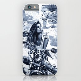Biker Girl iPhone Case