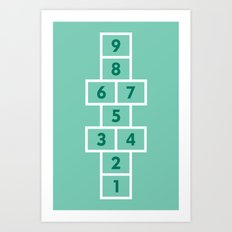 Hopscotch Mint Art Print