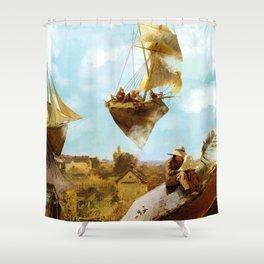 Sky Fishermen Shower Curtain