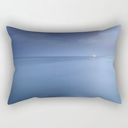 """Blue sea"". Blue hour. Rectangular Pillow"