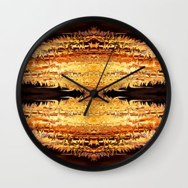 Lava geometry III Wall Clock