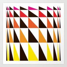 Red Yellow Triangle Pattern Art Print