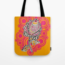 Madhubani - Fish Flower 2 Tote Bag