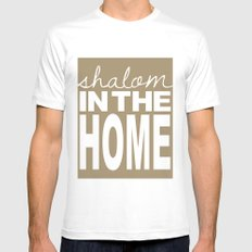 Shalom in the Home, sea foam Mens Fitted Tee White MEDIUM