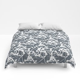 White noise lines on Volcanic Glass color ( Blue ) Comforters