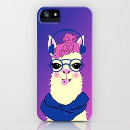 Cool Llama Girl iPhone Case