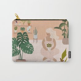 Plant Lady with her favorite plants Carry-All Pouch