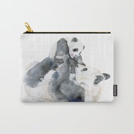 Mother and Baby Panda Bears Carry-All Pouch