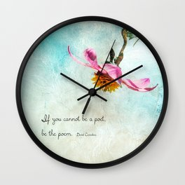 Be The Poet Wall Clock