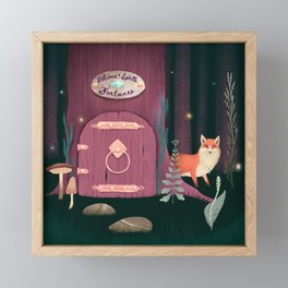 Sorcerer Of Woodland Charms Potions Spells And Fortunes Framed Mini Art Print