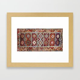 Gaziantep  Antique Turkish Rug Print Framed Art Print