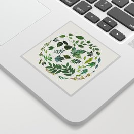 Circle of Leaves Sticker