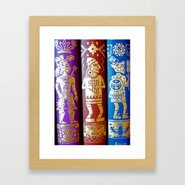 Vintage Books - Ancient Americas Framed Art Print