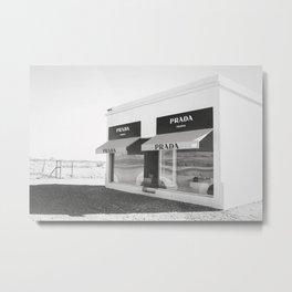 PradaMarfa  x Black & White Metal Print