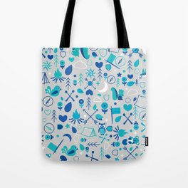 Cluster Camping Themed Graphic Tote Bag