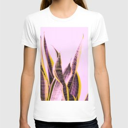 Long Leaves Plant On Pink Background #decor #society6 #buyart T-shirt