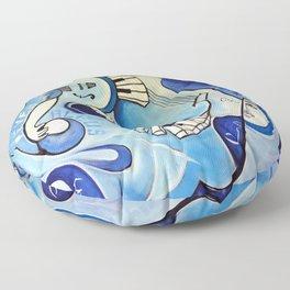 Reves Bleus (blue dreams) Floor Pillow
