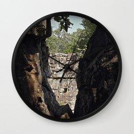 Moss Rock Wall Clock