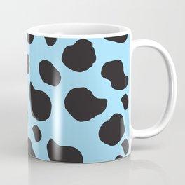 Animal Print (Cow Print), Cow Spots - Blue Black Coffee Mug