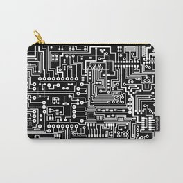 Circuit Board on Black Carry-All Pouch