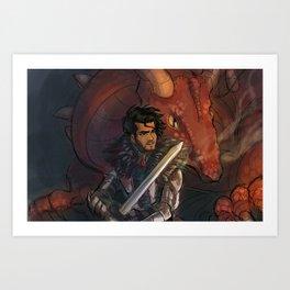 Dragons and Direction: Zayn Art Print