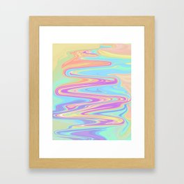 Liquid Iridescent Framed Art Print